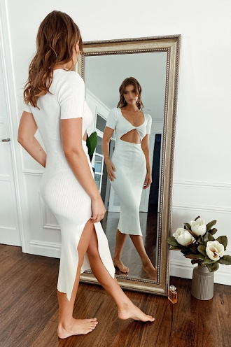 Cartia Dress White