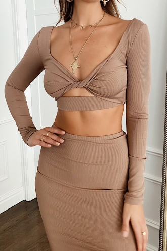 Untamed Top Beige