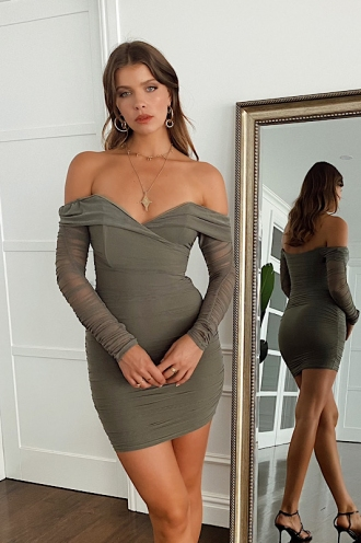 Phoebe Dress Khaki