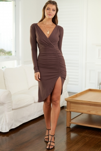 Kiri Dress Brown