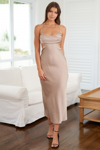 Robbie Dress Beige