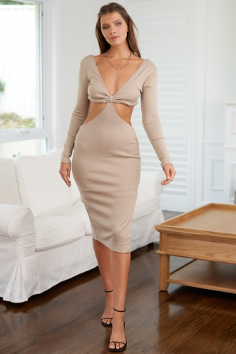 Giselle Dress Beige