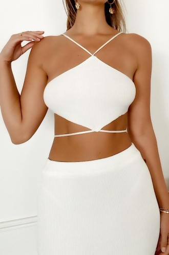 Vibes Top White