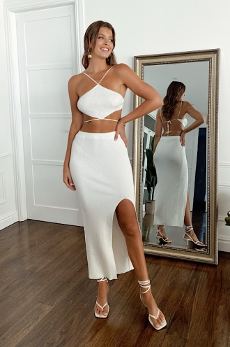 Meghan Skirt White