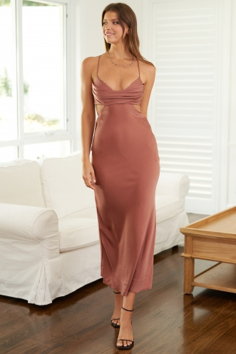 Robbie Dress Dusty Pink