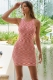Wally Dress White/Red