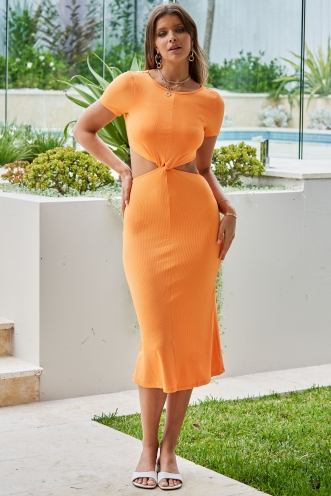 Stay Close Dress Orange