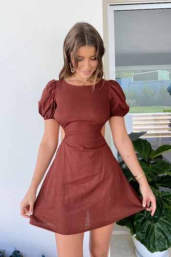 Before You Go Dress Brown