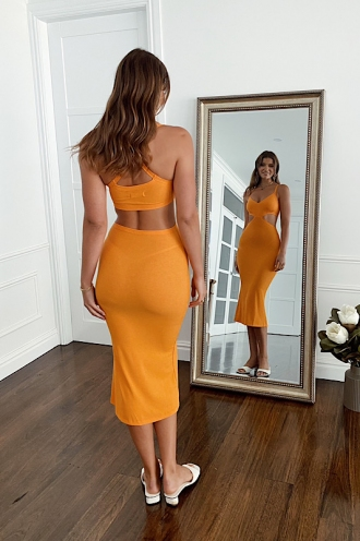 For A Moment Dress Orange