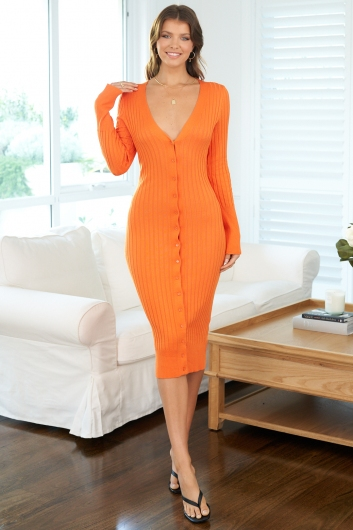 Folly Dress Orange