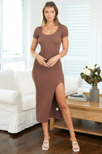 Front Row Dress Brown