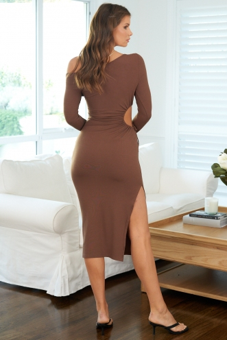 Leonie Dress Brown