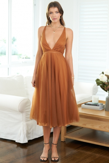 Girl From Mars Dress Brown