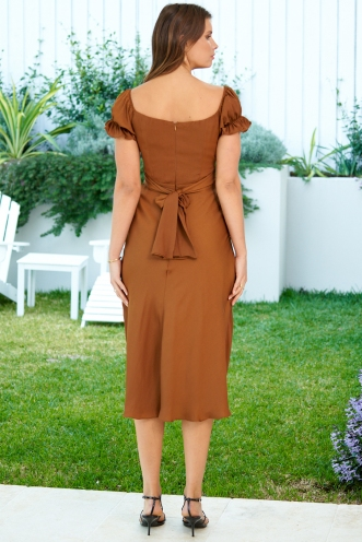 Charlotte Dress Chocolate
