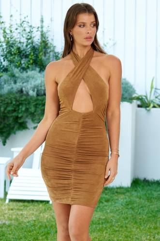 Renegade Dress Bronze Metallic
