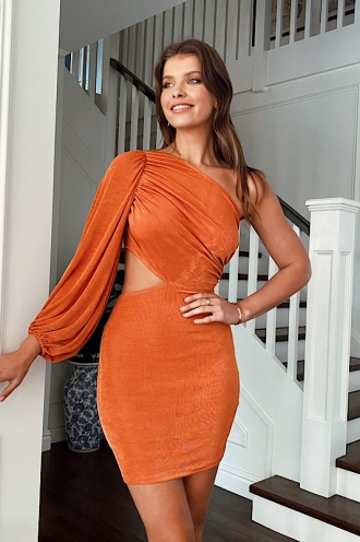 Celestial Dress Burnt Orange