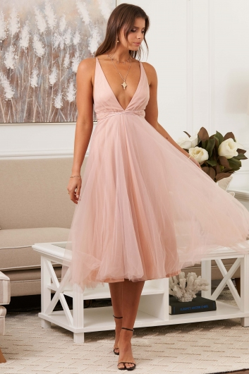 Girl From Mars Dress Apricot