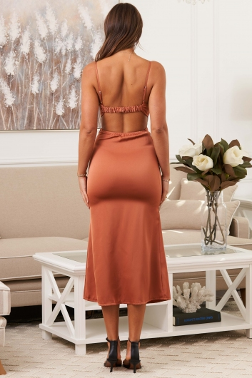 Perfect Place Dress Rust