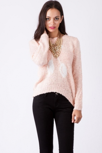 Glazed Pear Pudding Knit-Pink