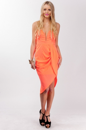 Fresh Apple Cake Dress-Peach-SALE