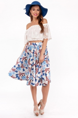 Oatmeal Cookie Cake Skirt- Mix White