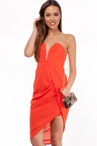 Fresh Apple Cake Dress- Orange-SALE
