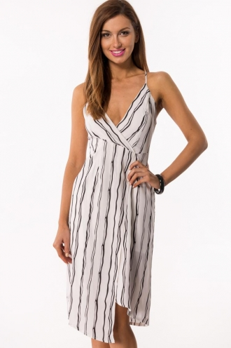 Blackberry Vanilla Pudding Womens Dress- White SALE
