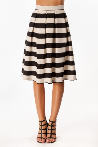 Vanilla Cream Cake Skirt- Thick Stripe-SALE