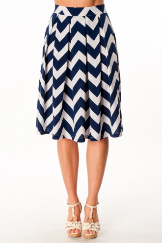 Rocky Road Cup Cake Skirt- White/Navy -SALE