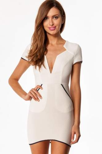 Chocolate Thickshake Womens Dress - White -SALE