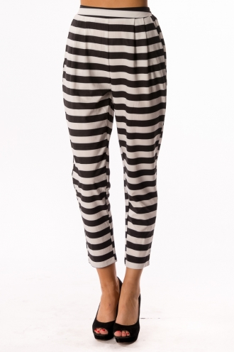 Apple Strudel Scone Pants - White/Black