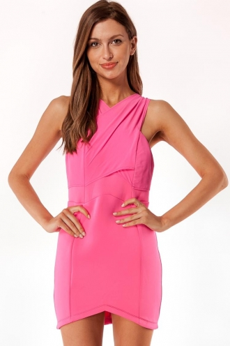 Hot Fudge Roll Womens Dress-Pink SALE