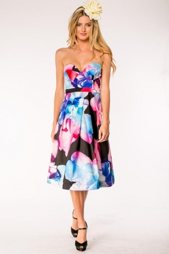 Fruit Tingle Cake Dress- Mix Black-SALE