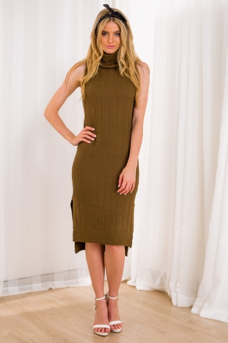 Strawberry Fudge Womens Knitted Dress - Brown-SALE