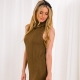 Strawberry Fudge Womens Knitted Dress - Brown