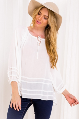 Strawberry Daiquiri Womens Blouse Top - White