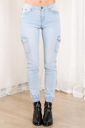 Turkish Delight Womens Straight Jeans - Light Denim