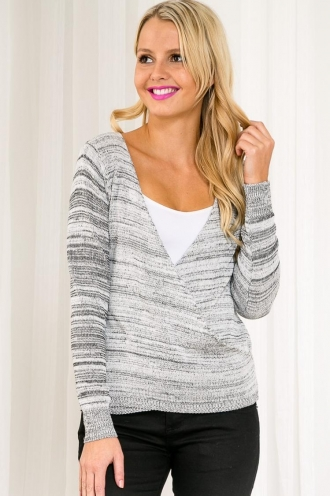 Honeycomb Popcorn Womens Knitted Top - Black/White SALE