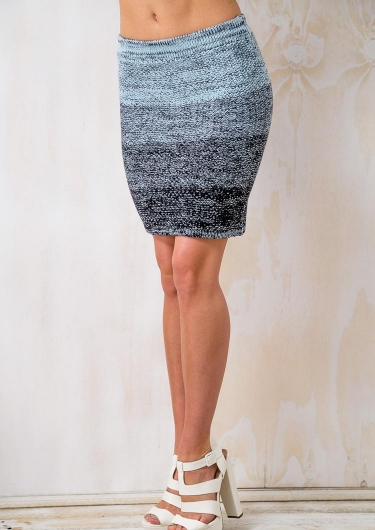 Goji Berry Smoothie Womens Knitted Skirt - Blue