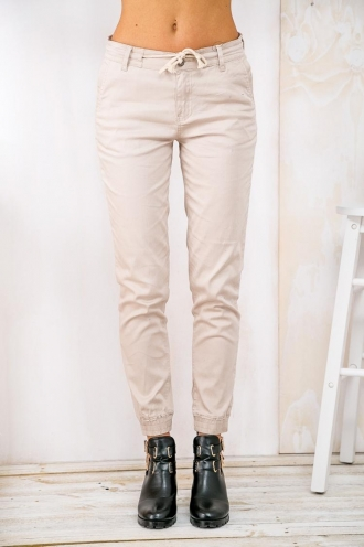 Jungle Jellies Womens Straight Leg Relaxed Pants - Beige