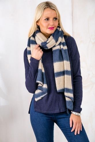 Pineapple Candy Womens Tie Dye Scarf - Toffee/Navy