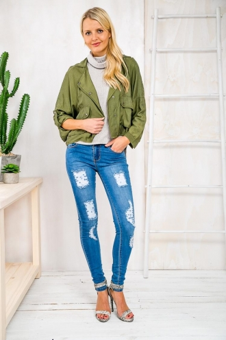 Sugar Cane Womens Anorak Jacket - Khaki RESHOOT