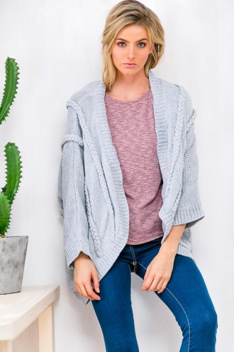 Cookies & Cream Womens Cardigan - Grey RESHOOT