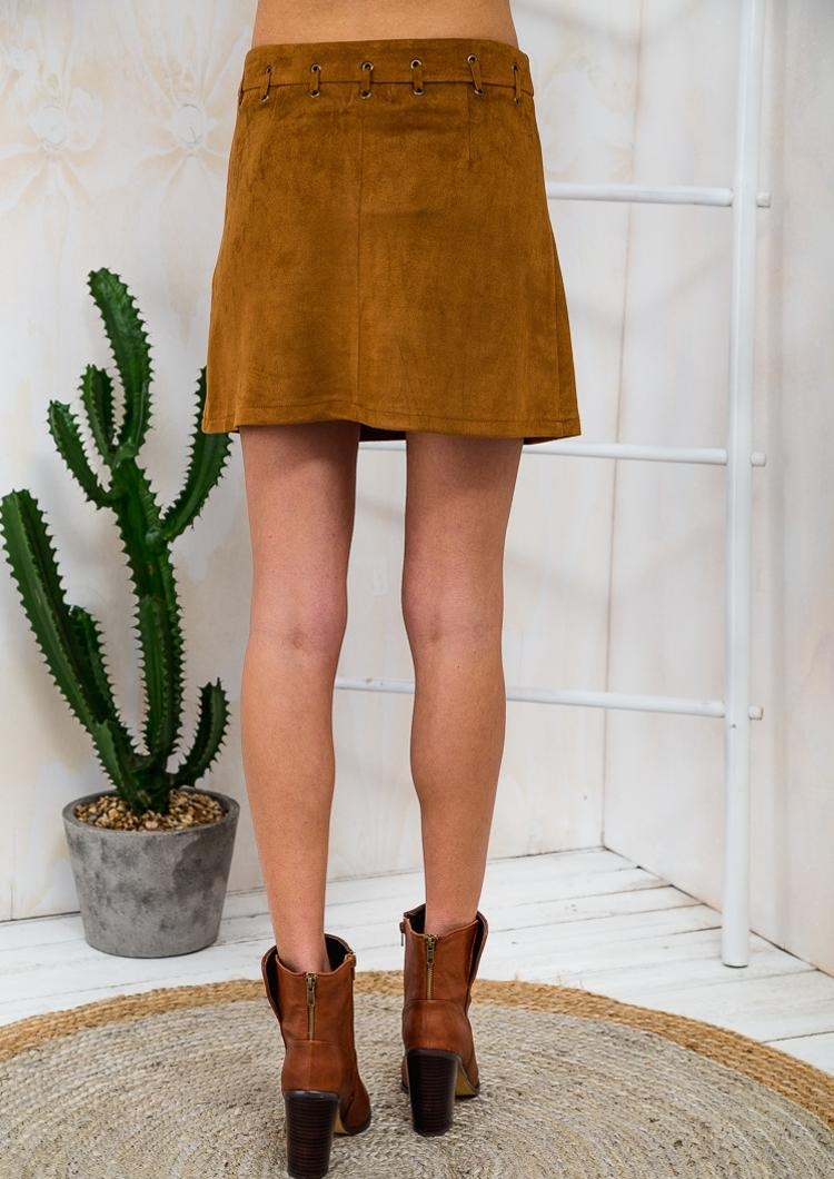 Caramel Marshmallow Womens A-Line Skirt - Tan-SALE - Stelly