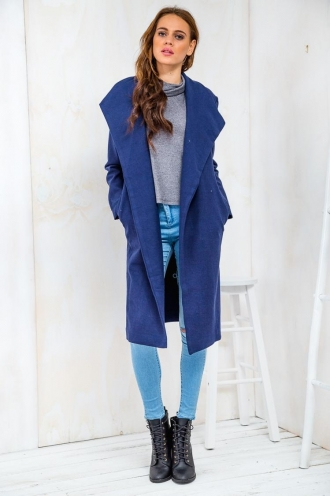 Sugar Cinnamon Cashews Womens Coat - Navy