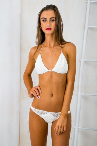 Beach Bum Crochet Bikini Set - White