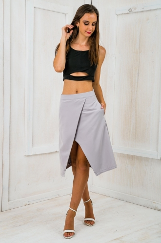 Time for business A-line skirt - Grey