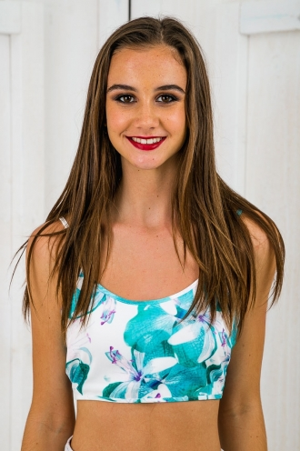 Under the trees crop top - Green Print-SALE