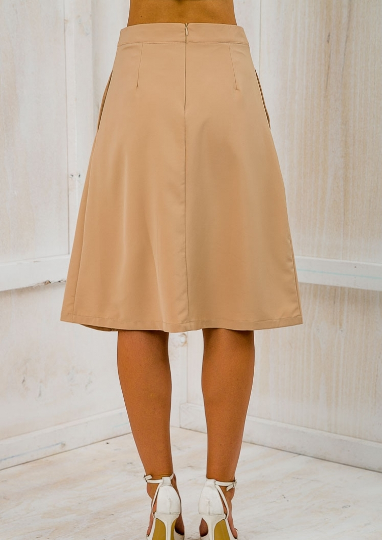 time for business a line skirt caramel sale stelly