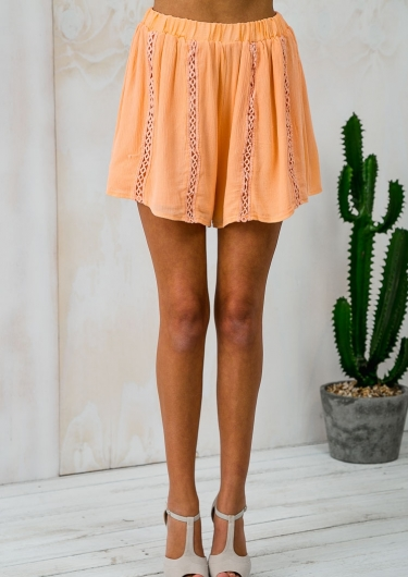 Peaches Please Floaty Shorts - Peach